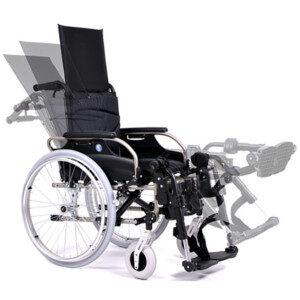 Scaune rulante ortopedice cu spătar înclinabil